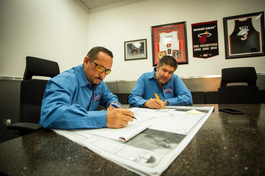 Norge Arnaiz and Juan Castro – Restore Construction Group Inc. Blueprint Magazine